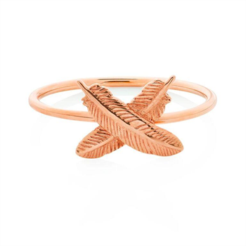 Feather Kisses Ring 9ct Rose Gold Size M