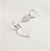 Kawakawa Charm Hoop Earrings Silver-jewellery-The Vault
