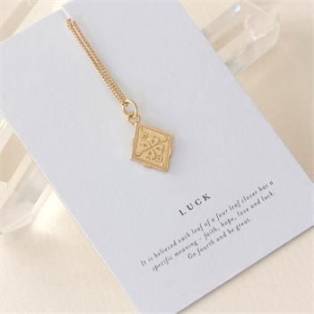 Luck Necklace Gold Plate