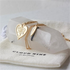 Love Necklace Gold plate-jewellery-The Vault
