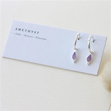 Silver Healing Earrings Amethyst-jewellery-The Vault