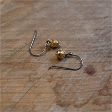 Acorn Earrings Gold Vermeil-jewellery-The Vault