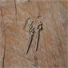 Cylindrical Spikes Earrings w Peridot  -jewellery-The Vault
