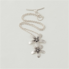Blossom Necklace Silver-jewellery-The Vault