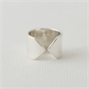 Arrow Ring Wide Silver-jewellery-The Vault