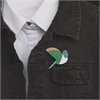 Kereru Brooch Green Wing-jewellery-The Vault