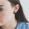 Circle Rimu Earrings Black-jewellery-The Vault