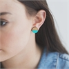 Circle Rimu Earrings Teal-jewellery-The Vault