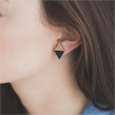 Diamond Rimu Earrings Black-new-The Vault