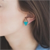 Diamond Rimu Earrings Teal-jewellery-The Vault