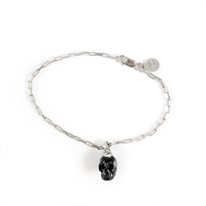 Black Skull Charm Bracelet-jewellery-The Vault