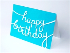 Happy Birthday Ribbons (Blue)-gift-cards-and-tags-The Vault