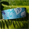 Alum Cuff Narrow Kiwi Kawakawa-jewellery-The Vault