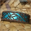 Narrow Veneer Cuff Tivaev Teal-jewellery-The Vault