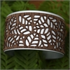 Laser Veneer Cuff Leaf-jewellery-The Vault