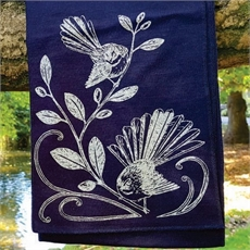 Merino Scarf Fantail Indigo -for-her-The Vault