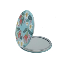 Flowers on Aqua Cosmetic Mirror-for-her-The Vault
