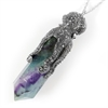 Octopus Laser Necklace Rainbow Fluorite-jewellery-The Vault