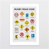 Rugby Road Code A4 Print-home-The Vault