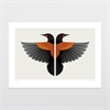 Two Tieke (Saddleback) A4 Print-home-The Vault