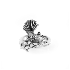 Fantail Silver Ring Silver-jewellery-The Vault