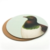Cork Backed Placemat Single Kereru Green-artists-and-brands-The Vault