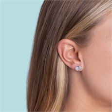 Mini Fan Tail Studs Silver-jewellery-The Vault
