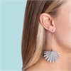 Fan Tail Earrings Sterling Silver-jewellery-The Vault