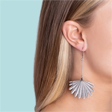 Fan Tail Earrings Silver-jewellery-The Vault