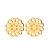 Lotus Studs 9ct Yellow Gold-jewellery-The Vault