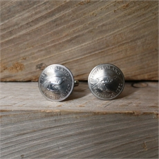 Sixpence Cufflinks Silver-for-him-The Vault
