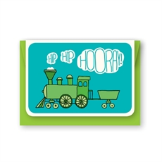 Hip Hip Hooray! Train Card-cards-The Vault