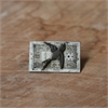Small Rectangle Watchface Brooch w Bird-jewellery-The Vault