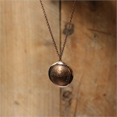 Copper Half Penny Locket-jewellery-The Vault