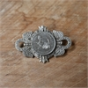 Large Crest Brooch Silver Shilling-jewellery-The Vault