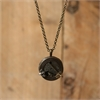 Small Mixed Metal Porthole Pendant Brass-jewellery-The Vault