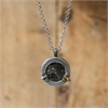 Small Mixed Metal Porthole Pendant Silver-jewellery-The Vault