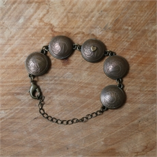 Copper Brass Domed One Cent Bracelet-jewellery-The Vault