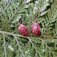 Alum Cut Above Earrings Frangi Red -jewellery-The Vault
