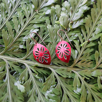 Alum Cut Above Earrings Frangi Red
