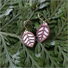 Laser Veneer Oval Earrings Leaf-jewellery-The Vault