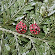 Alum Aotearoa Spiral Red Earrings -jewellery-The Vault