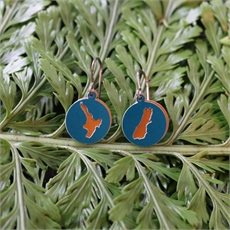 Alum Duo Earrings Map Turquoise-jewellery-The Vault