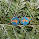 Alum Duo Earrings Fantail Turquoise