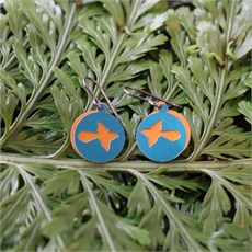 Alum Duo Earrings Fantail Turquoise-jewellery-The Vault