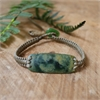 Darren Hill Pounamu Bracelet Taupe Cord-jewellery-The Vault