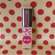Lover's Pencil Pack of 5 Boxed-home-The Vault