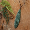 Daren Hill Pounamu Pendant Large Leaf-jewellery-The Vault