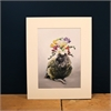 Matted Print Freesia Kahlo-home-The Vault