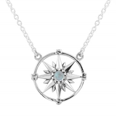 Guilding Light Compass Necklace-jewellery-The Vault